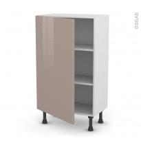 Meuble de cuisine - Bas - KERIA Moka - 1 porte - L60 x H92 x P37 cm