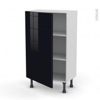 Meuble de cuisine - Bas - KERIA Noir - 1 porte - L60 x H92 x P37 cm