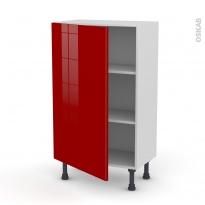 STECIA Rouge - Meuble bas prof.37  - 1 porte - L60xH92xP37