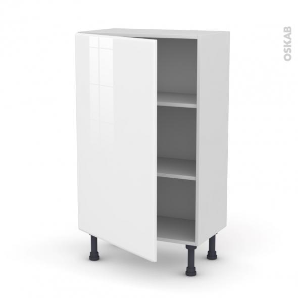 Meuble de cuisine - Bas - IRIS Blanc - 1 porte - L60 x H92 x P37 cm