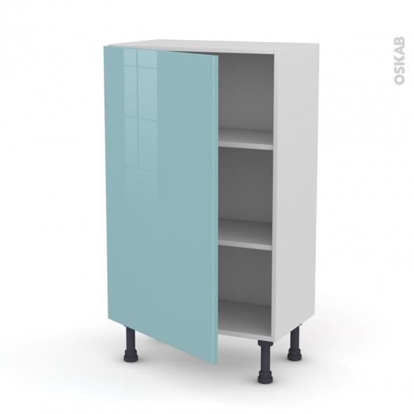 Meuble de cuisine - Bas - KERIA Bleu - 1 porte - L60 x H92 x P37 cm