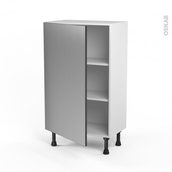 STILO Inox - Meuble bas prof.37  - 1 porte - L60xH92xP37