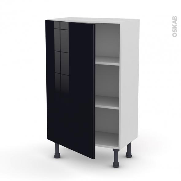KERIA Noir - Meuble bas prof.37  - 1 porte - L60xH92xP37