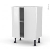 Meuble de cuisine - Bas - STECIA Blanc - 2 portes - L60 x H70 x P37 cm