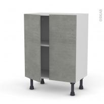 Meuble de cuisine - Bas - FAKTO Béton - 2 portes - L60 x H70 x P37 cm