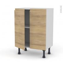 Meuble de cuisine - Bas - IPOMA Chêne naturel - 2 portes - L60 x H70 x P37 cm