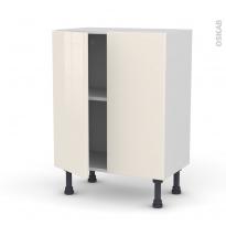 Meuble de cuisine - Bas - KERIA Ivoire - 2 portes - L60 x H70 x P37 cm