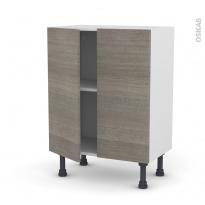 Meuble de cuisine - Bas - STILO Noyer Naturel - 2 portes - L60 x H70 x P37 cm