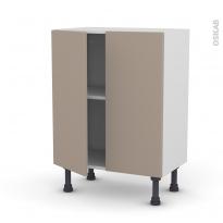 Meuble de cuisine - Bas - GINKO Taupe - 2 portes - L60 x H70 x P37 cm