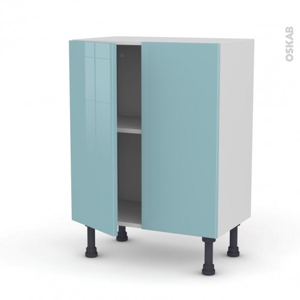 KERIA Bleu - Meuble bas prof.37 - 2 portes - L60xH70xP37