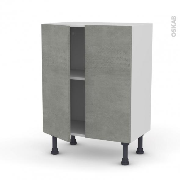 FAKTO Béton - Meuble bas prof.37 - 2 portes - L60xH70xP37