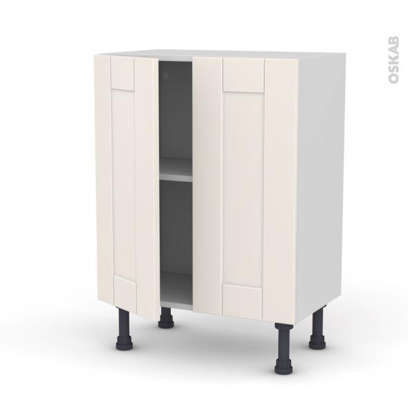 Meuble de cuisine - Bas - FILIPEN Ivoire - 2 portes - L60 x H70 x P37 cm