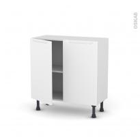 PIMA Blanc - Meuble bas prof.37  - 2 portes - L80xH70xP37