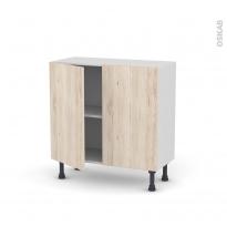 IKORO Chêne clair - Meuble bas prof.37  - 2 portes - L80xH70xP37