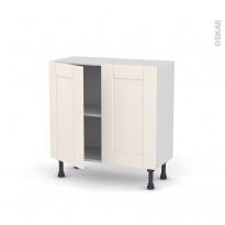 Meuble de cuisine - Bas - FILIPEN Ivoire - 2 portes - L80 x H70 x P37 cm