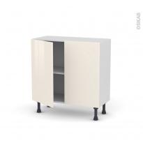 Meuble de cuisine - Bas - KERIA Ivoire - 2 portes - L80 x H70 x P37 cm