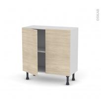 STILO Noyer Blanchi - Meuble bas prof.37  - 2 portes - L80xH70xP37