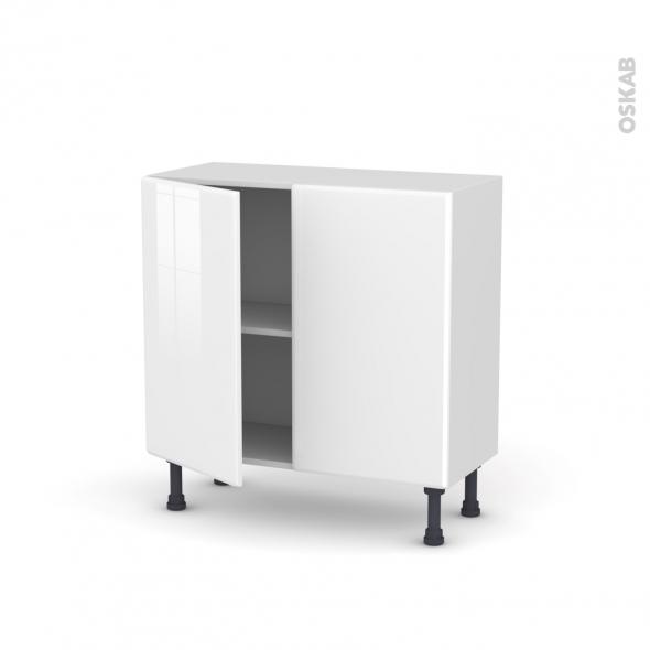 IRIS Blanc - Meuble bas prof.37  - 2 portes - L80xH70xP37