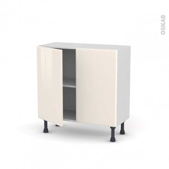 IRIS Ivoire - Meuble bas prof.37  - 2 portes - L80xH70xP37