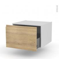 Meuble de cuisine - Bas suspendu - IPOMA Chêne naturel - 1 porte - L60 x H41 x P58 cm