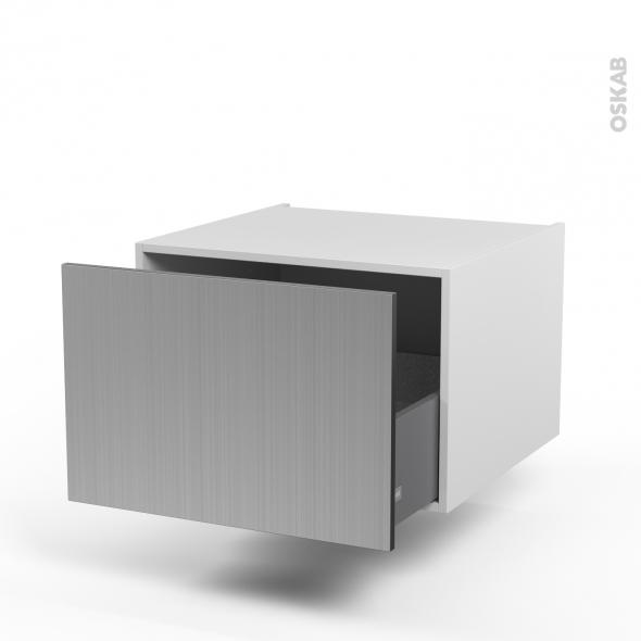 STILO Inox - Meuble bas suspendu - 1 casserolier - L60xH41xP58