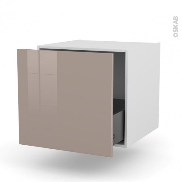KERIA Moka - Meuble bas suspendu - 1 casserolier - L60xH57xP58