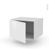 Meuble de cuisine - Bas suspendu - IPOMA Blanc - 1 porte - L60 x H41 x P58 cm