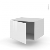Meuble de cuisine - Bas suspendu - IRIS Blanc - 1 porte - L60 x H41 x P58 cm