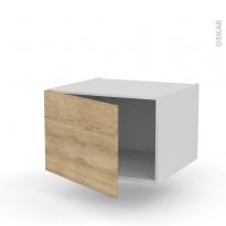 Meuble de cuisine - Bas suspendu - HOSTA Chêne naturel - 1 porte - L60 x H41 x P58 cm