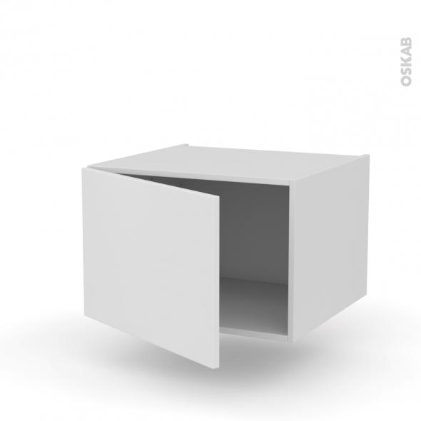 Meuble de cuisine - Bas suspendu - GINKO Blanc - 1 porte - L60 x H41 x P58 cm