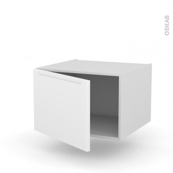 Meuble de cuisine - Bas suspendu - PIMA Blanc - 1 porte - L60 x H41 x P58 cm