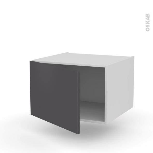 Meuble de cuisine - Haut ouvrant - GINKO Gris - 1 porte - L60 x H41 x P58 cm