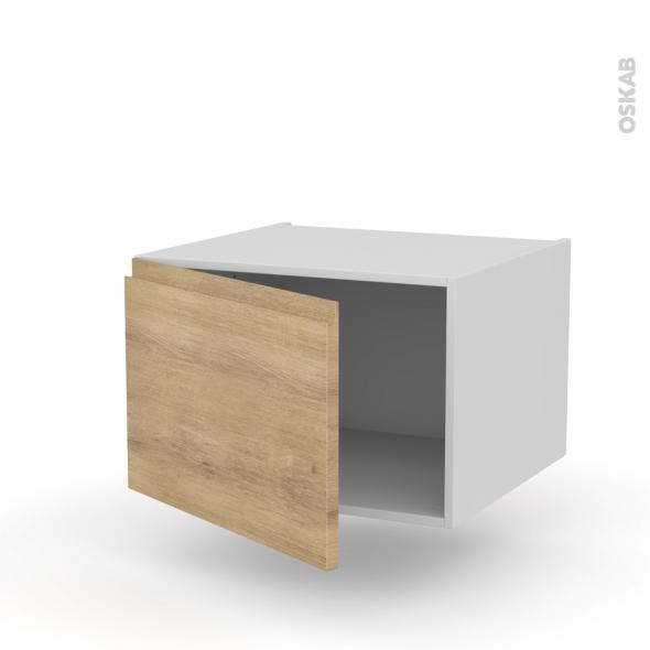 Meuble de cuisine - Haut ouvrant - IPOMA Chêne naturel - 1 porte - L60 x H41 x P58 cm