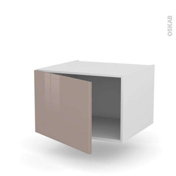 Meuble de cuisine - Bas suspendu - KERIA Moka - 1 porte - L60 x H57 x P58 cm