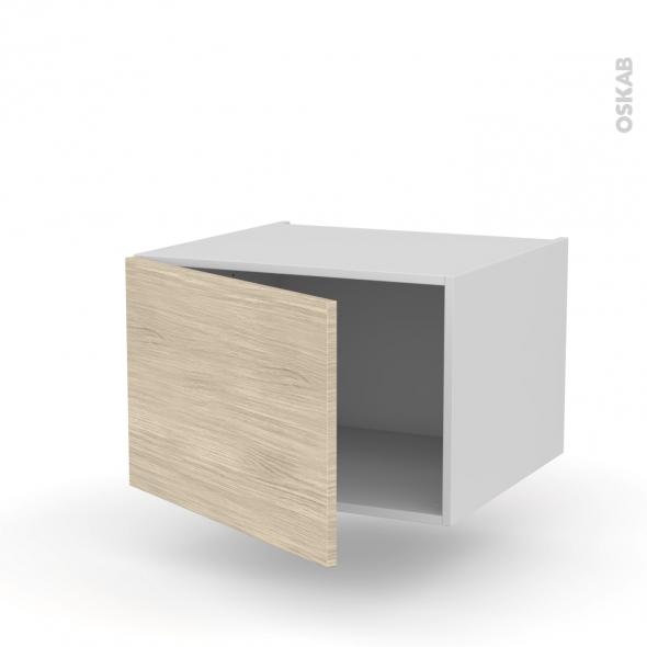 Meuble de cuisine - Bas suspendu - STILO Noyer Blanchi - 1 porte - L60 x H41 x P58 cm