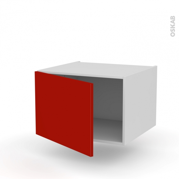 GINKO Rouge - Meuble bas suspendu  - 1 porte - L60xH41xP58
