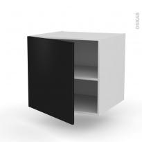 Meuble de cuisine - Bas suspendu - GINKO Noir - 1 porte - L60 x H57 x P58 cm