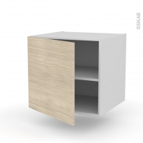 STILO Noyer Blanchi - Meuble bas suspendu  - 1 porte - L60xH57xP58