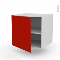 GINKO Rouge - Meuble bas suspendu  - 1 porte - L60xH57xP58