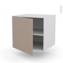Meuble de cuisine - Bas suspendu - GINKO Taupe - 1 porte - L60 x H57 x P58 cm
