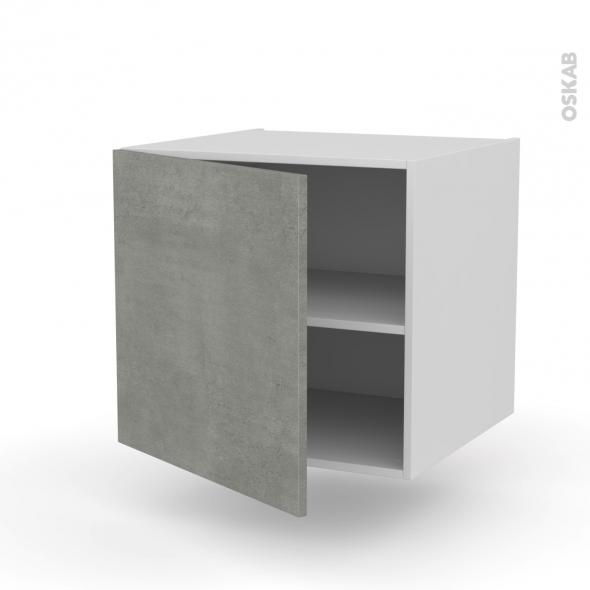 Meuble de cuisine - Bas suspendu - FAKTO Béton - 1 porte - L60 x H57 x P58 cm