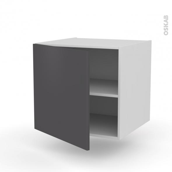 Meuble de cuisine - Bas suspendu - GINKO Gris - 1 porte - L60 x H57 x P58 cm