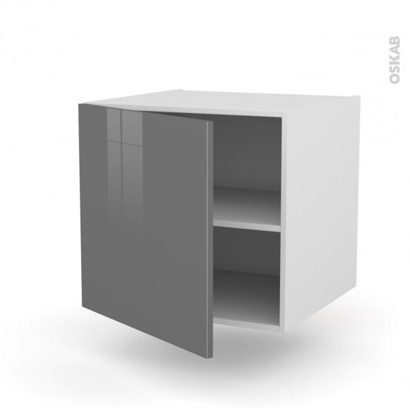 STECIA Gris - Meuble bas suspendu  - 1 porte - L60xH57xP58
