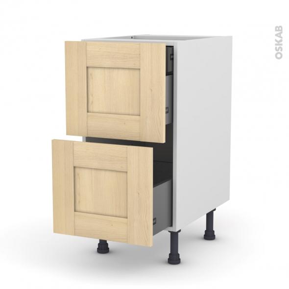 BETULA - Meuble casserolier - 2 tiroirs-1 tiroir anglaise - L40xH70xP58