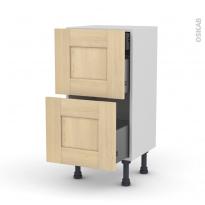BETULA - Meuble casserolier - 2 tiroirs-1 tiroir anglaise - L40xH70xP37