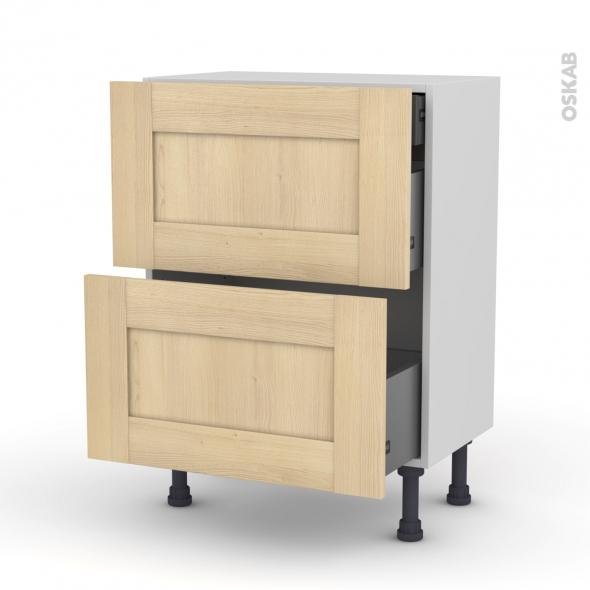 BETULA - Meuble casserolier - 2 tiroirs-1 tiroir anglaise - L60xH70xP37