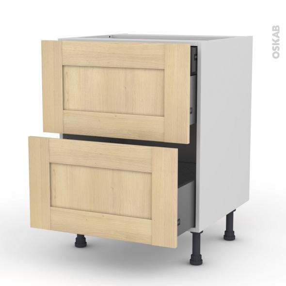 BETULA - Meuble casserolier - 2 tiroirs-1 tiroir anglaise - L60xH70xP58