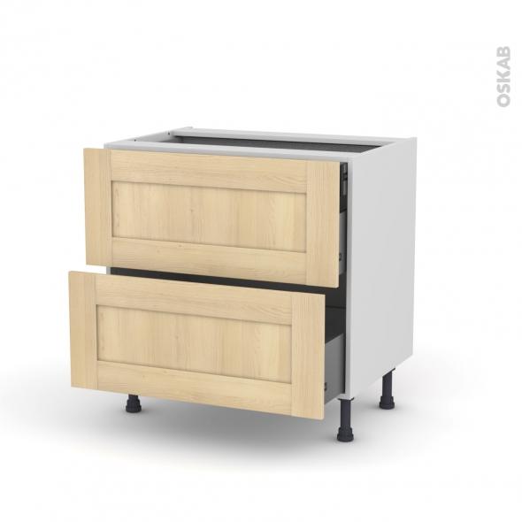BETULA - Meuble casserolier - 2 tiroirs-1 tiroir anglaise - L80xH70xP58