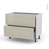 SILEN Argile - Meuble casserolier  - 2 tiroirs - L100xH70xP58