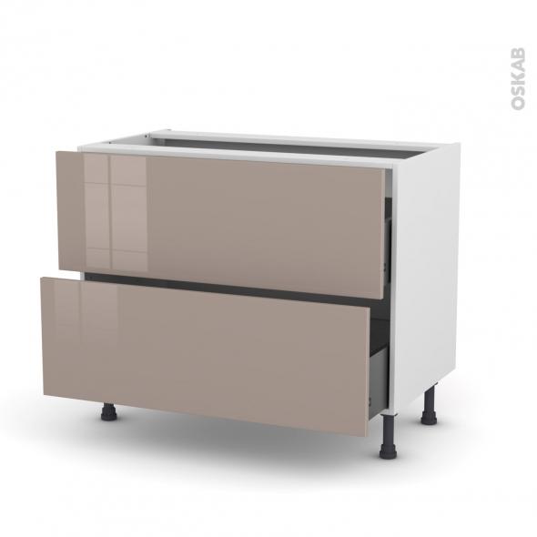 KERIA Moka - Meuble casserolier  - 2 tiroirs - L100xH70xP58